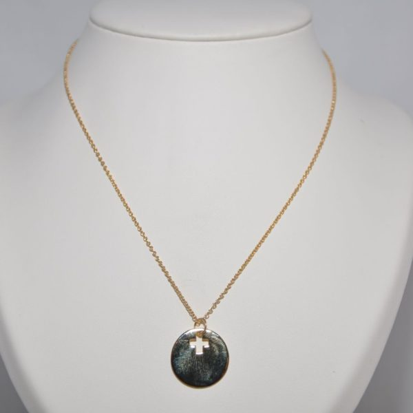 Croix plaqué or médaille Bijoux Créations Originales Fait Main DIY Personnalisable